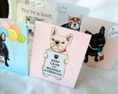 Frenchie Stand Up Valentines - Mini Eco-friendly Set of 6