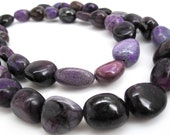 AA Sugilite Beads, 17mm x 19mm, Natural African Sugilite, Smooth Nuggets, Smooth PebblesLoveofjewelry, SKU 3695A