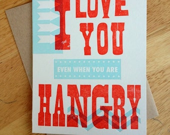 Hangry Letterpress Card