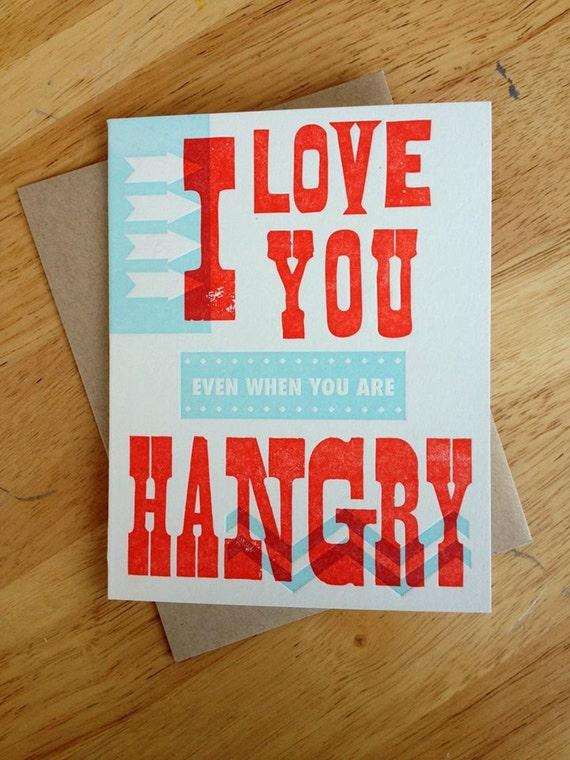 Hangry Letterpress Card