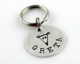 Greyhound pet tag - handstamped and personalized