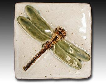 4x4 Ceramic Dragonfly Tile