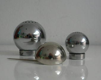 art deco Modernist chrome silver Stick Hat Pin,1930s 1940s jewelry
