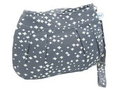 Organic Handmade Little Sophisticate Cross Body Sling Purse - Gray Plus - Free Shipping