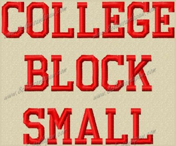 College Block Letters