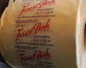 VINTAGE Bennett's Creamery Forest Park Creamery Butter Wrapping Ottawa Kansas sold by the yard