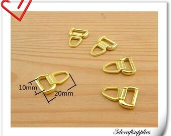 20mm x 10 mm #5  Gold metal zipper pull charm  25pcs i58