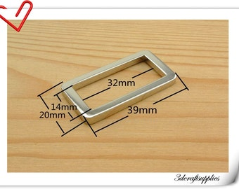 1.25 (1 1/4) inch ( inner diameter )  Nickel rectangle alloy buckles 10pcs 3mm thickness   U6