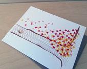Leaf Pile  Thank You cards - set of 8