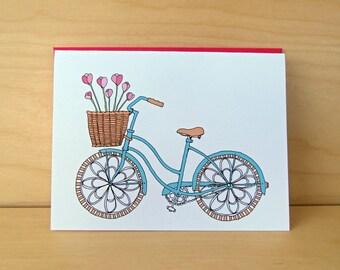 SALE Tulip Bike - Bike Card