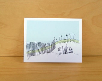 Sand Dune - thank you card, set of 8