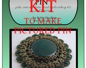 KIT- Green Modern Heirloom Pin with Braiding