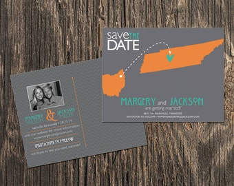 Tennessee – Save the Date – Nashville, Knoxville Destination Wedding – Wedding Save the Dates
