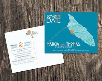 Aruba - Save the Date - Destination Wedding