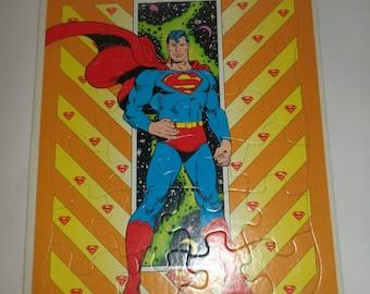 Vintage Superman Puzzle - Frame Tray Puzzle - DC Comics 1989 - Superhero Puzzle - Collectible Puzzle - Superman Collecitble