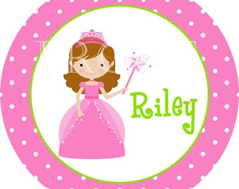 Personalized Princess Girl Melamine Plate Gift