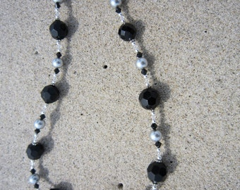 Black, Grey and Silver Necklace