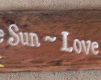6x36 Beautiful reclaimed wood sign.