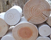 Whitewashed Scandi - Style Decorative Logs...fill an empty alcove or fireplace!