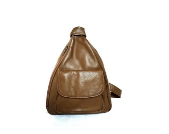 ALEX French VIntage Taupe Leather Bodybag