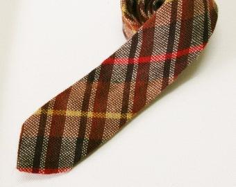 CLEARANCE SALE Vintage Skinny Tie - Hand-woven wool skinny tie 1960s