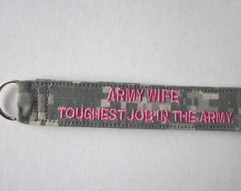 Army ACU keychain personalized with your name or words.