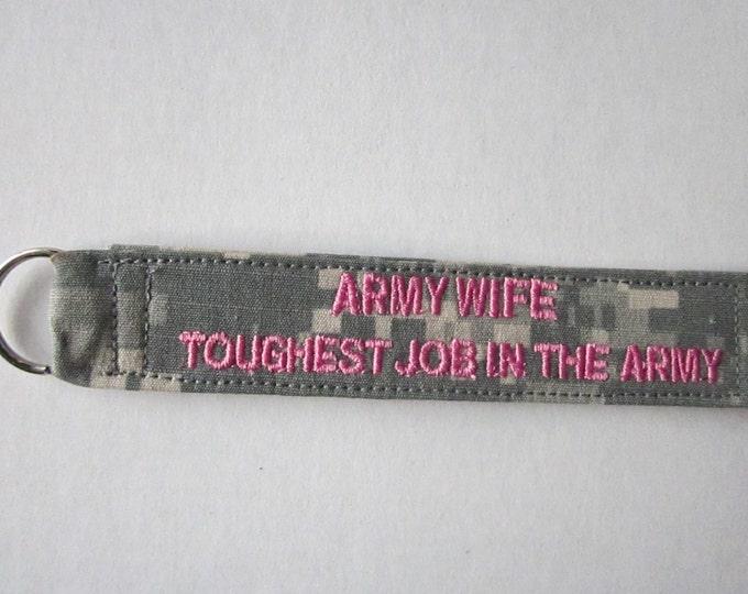Army ACU keychain Army Sister Army Wife