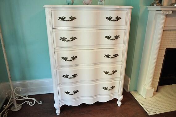 Vintage White French Provincial Dresser By VintageChicFurniture