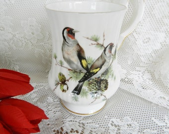 Vintage Teacup,  Royal Windsor  Mug, Bird Mug, WindsorTea Cup, Windsor Mug  no 14