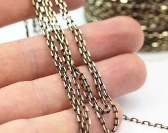 Cable Chain, Rope Chain, 5M (3.5x2mm) Soldered Brass Chain - Brs4568  ( Z005 )