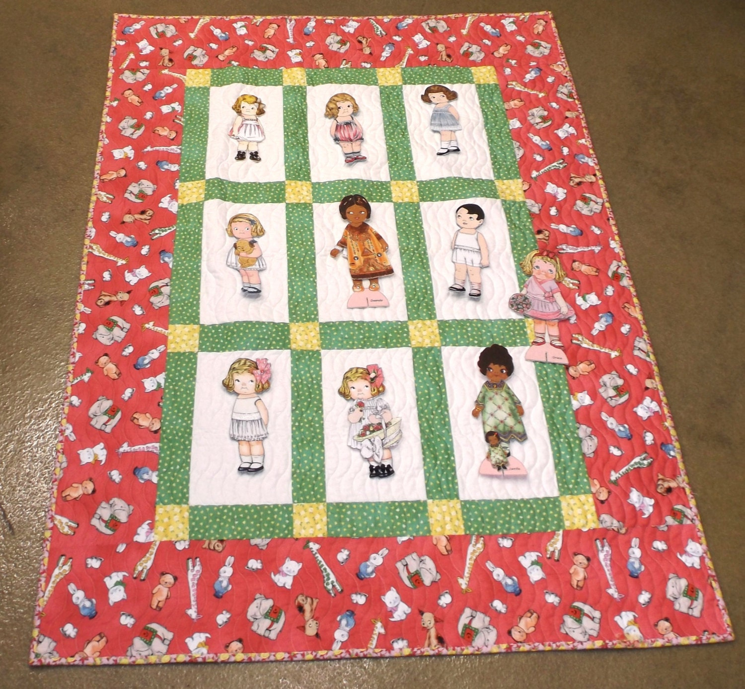 Paper Doll Quilt Pattern Kit: Fons And Porter Paper Doll Quilt KIT Aunt Lindy By Siblingarts