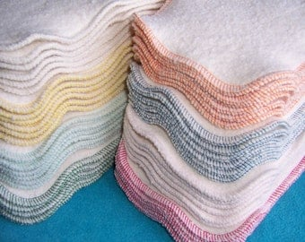 Organic Cloth Diaper Liners - Hemp Cotton Fleece 13 x 5 Doublers Soakers Inserts 2-ply **Flat Shipping Rate for Any Set Size**
