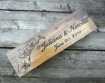 Custom Rustic Wedding Wine Box, First Fight Box, Memory Box, Time Capsule for Wedding Day, Anniversary, Special Occasion