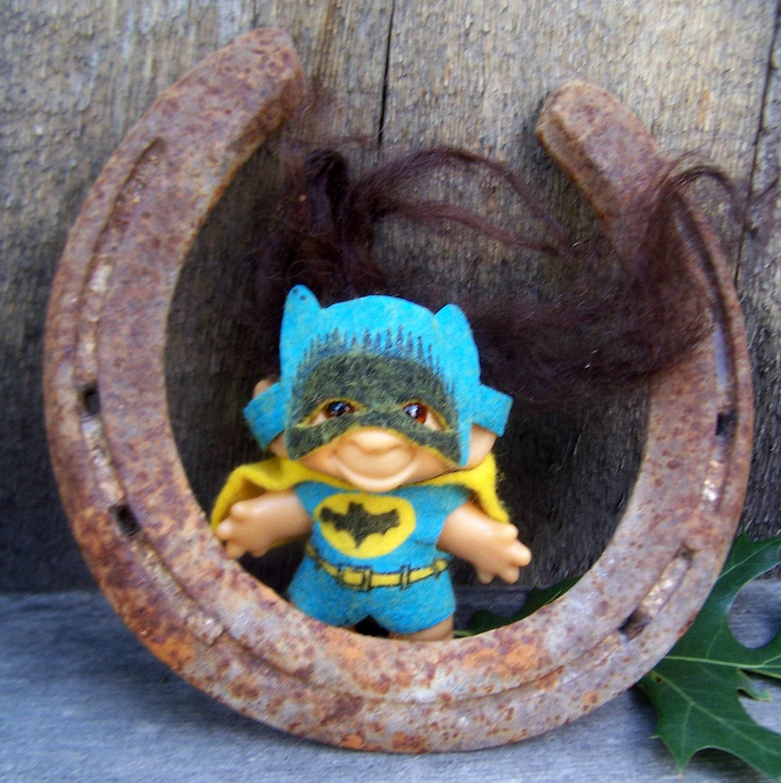 Vintage Toy Batman Dam Troll Doll Rare 2 1 2 By Papercherries