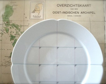 Pair Royal Copenhagen Plates with Grid Pattern