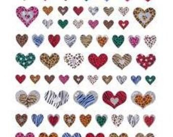 Popular Items For Zebra Print Heart On Etsy