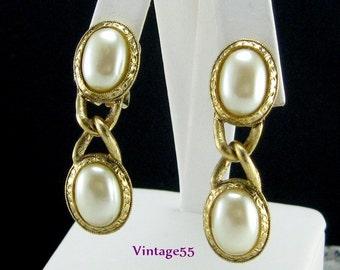 Earrings 1928 Jewely Co Faux Pearl Gold tone drop