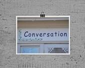 Conversation  A Lost Art - Lakeside Ohio - 4 x 6 photograph