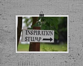 Inspiration Stump at Lily Dale - Medium Spiritualist - 4 x 6 photograph