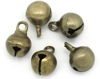 Jingle Bells - Antique Brass - Set of 50