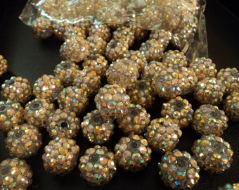 Resin Rhinestone Beads IV - Set of 8 - #RR117