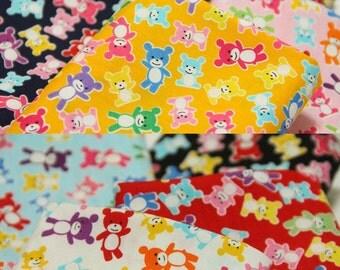 FREE SHIPPING Gummy Bears on Orange Yellow - Animal Cotton Fabric (F019)- Fat Quarter