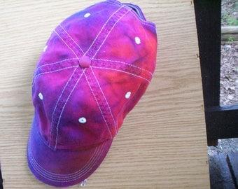 Raspberry Blue Tie Dye Hat