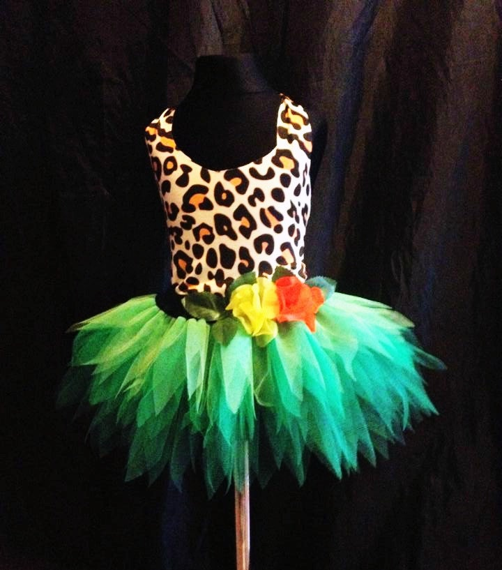 Childrens Katy Perry Roar Costume Jungle Tutu Green by ...