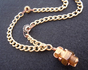 Copper Gear Necklace