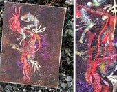"Fire Seaweed Corsage - 12"" x 16""  Original Artwork"
