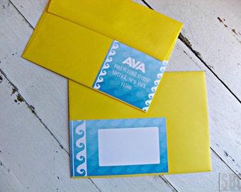 Make A Splash Address Wraps...Set of 10 Address Wraps
