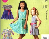 GIRLS DRESS PATTERN / Make Comfortable Pullover Summer Dress / Size 3-6 or 7-14