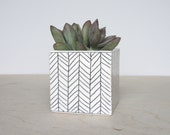 Large Ceramic Square Planter - Single - Made to Order