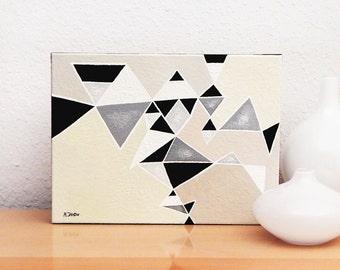 Art peinture g om trique triangles abstrait art moderne for Peinture moderne geometrique